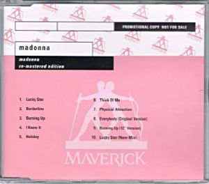 MADONNA (Re-Mastered Edition) - PROMO CD ALBUM